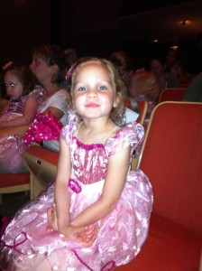 My little ballerina so excited to take the stage.